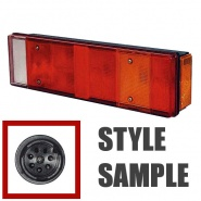 0-072-03 Left Hand Commercial Rear Lamp with Schlemmer Connector
