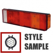 0-072-11 Left Hand Commercial Rear Lamp for Iveco