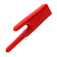 0-187-05 Pack of 10 Red Insulation Soft PVC Sleeves
