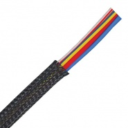 0-325-10 10m Black Expandable Flame Retardant Braided Sleeving 9.5mm ID