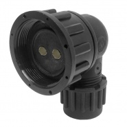 0-326-52 Schlemmer Type M27 DIN 2 Way 90 Degree Connector