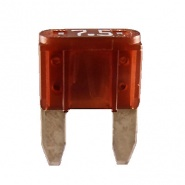 Durite 7.5A Brown Mini Blade  or Spade Automotive Fuse | Re: 0-372-07
