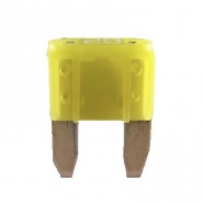 Durite 20A Yellow Mini Blade or Spade Automotive Fuse | Re: 0-372-20