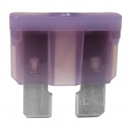 0-375-03 Pack of 10 Durite 3A Standard Automotive Blade Fuse Violet