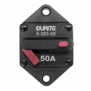 0-383-55 Durite 12V-24V DC 50A Panel Mounted Circuit Breaker