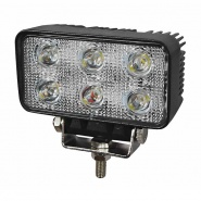 0-420-71 12V-24V 6 x 3W LED Compact and Powerful Work Lamp IP67