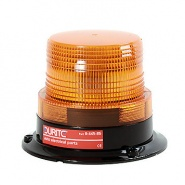 0-445-85 Low Profile Amber Lensed LED Beacon 12V to 110V DC