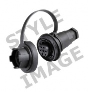 0-463-19 3 Pole 10A Caravan Style Trailing Socket