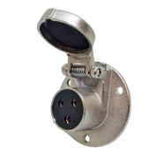 0-473-19 Clang 3 Pin 5A Trailer Style Socket