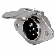 0-477-16 Clang 7 Pin Plug for 24V Trailers