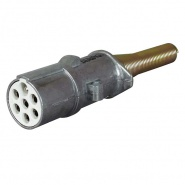 0-477-99 Alloy 7 Pin Socket for 24V Trailers