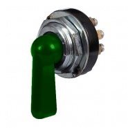 0-484-00 Rotary Switch with Green Illuminated Plastic Lever 6A