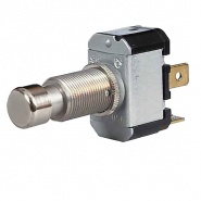 0-485-90 Push On-Push Off Single Pole Switch with Metal Button 6A