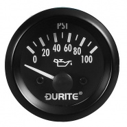 0-523-67 Durite 24V Illuminated Oil Pressure Gauge 52mm Diameter
