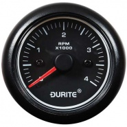 0-525-10 Durite Marine 12V-24V LED Illuminated 0 to 4000rpm Tachometer