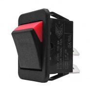 0-532-02 On-Off Double Pole Fluorescent Plastic Rocker Switch 25A