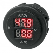 0-534-05 Durite 12-48V LCD Multivoltage Dual Battery Voltmeter