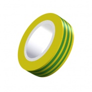 0-557-48 Durite Green-Yellow Earth PVC Adhesive Tape Pack of 12