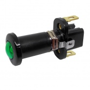 0-597-14 Green Illuminated On-Off Single Pole Push-Pull Switch 10A
