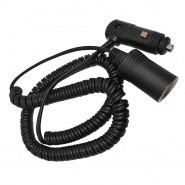 0-601-55 Retractable Cable 2.45M Maximum Working Length Cigarette Plug and Socket