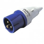 0-684-16 230V 16A Blue Outdoor Plug
