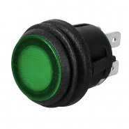 0-690-54 On-Off Single Pole Push Switch Green LED 10A