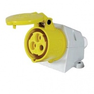 0-698-69 Pack of 1 110V 16A Yellow Outdoor Surface Mounted Socket
