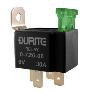 0-726-06 Durite 6V Mini Fused Make and Break Relay