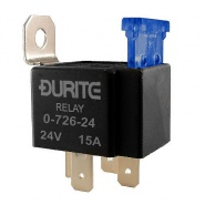 0-726-24 Durite 24V Fused 15A Mini Make and Break Relay