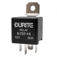 0-727-14 Durite 12V 30A Mini Make and Break Relay with Diode