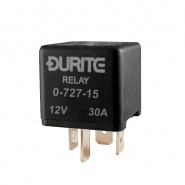 0-727-15 Durite 12V 30A Mini Make and Break Relay with Sealed Resistor