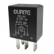 0-727-19 Durite 12V 25A Micro Make and Break Relay with Diode