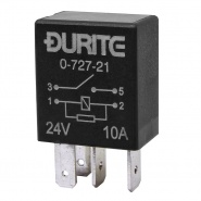 0-727-21 Durite 24V 10A Micro Make and Break Relay with Resistor
