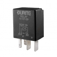 0-727-29 Durite 24V 10A Micro Make and Break Relay with Diode