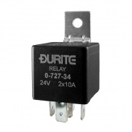 Durite 24V 2 x 10A Double Make and Break Relay | Re: 0-727-34