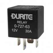0-727-63 Durite 12V 30A Mini Make and Brake Relay with Resistor