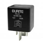 0-727-72 Durite 12V 100A Mini Heavy Duty Make and Break Relay with Resistor