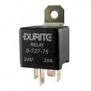 0-727-76 Durite 24V 30A Mini Make and Break Relay with Diode