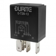 0-728-13 Durite 12V 15A-25A Micro Changeover Relay with Diode