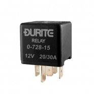 0-728-15 Durite 12V 20A-30A Mini Changeover Relay with Resistor