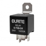 0-728-24 Durite 24V 10A-20A Mini Changeover Relay