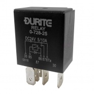 0-728-25 Durite 24V 5A-10A Micro Changeover Relay with Diode