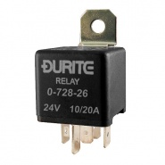 Durite 24V 10A-20A Changeover Relay with Inbuilt Diode | Re: 0-728-26