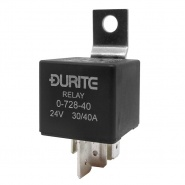 0-728-40 Durite 24V 30A-40A Mini Heavy Duty Changeover Relay