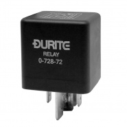 0-728-72 Durite 12V 70A-100A Mini Extra HD Changeover Relay with Resistor