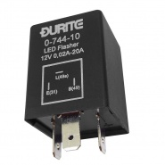 0-744-10 Durite 12V LED Flasher Unit - 0.02A - 20A