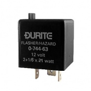 0-744-63 Durite 12V 2+1/6 x 21W Caravan Hazard Flasher Unit