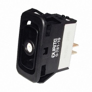 0-781-10 Durite Momentary On-Off Single Pole Rocker Switch Body Non-Illuminated