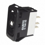 0-786-20 Mom. On-Off-Momentary On DP Rocker Switch Body Non-Illuminated