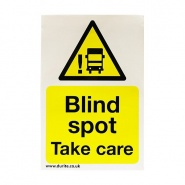 0-870-50 Self-adhesive Vinyl Blind Spot Safety Sign - Portrait